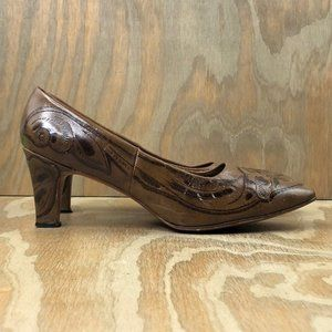 Joker Vintage Hand Tooled Heels Made in Mexico